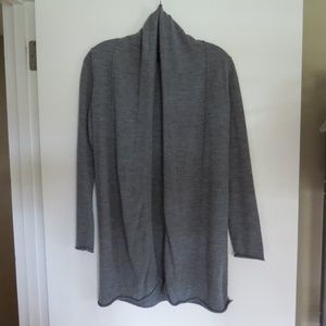 Cynthia Rowley Gray Merino Wool Cardigan Small